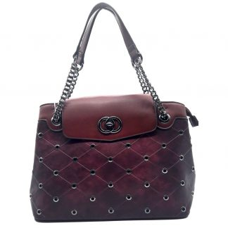 Bolsa Feminina Red Rose Purple Chain